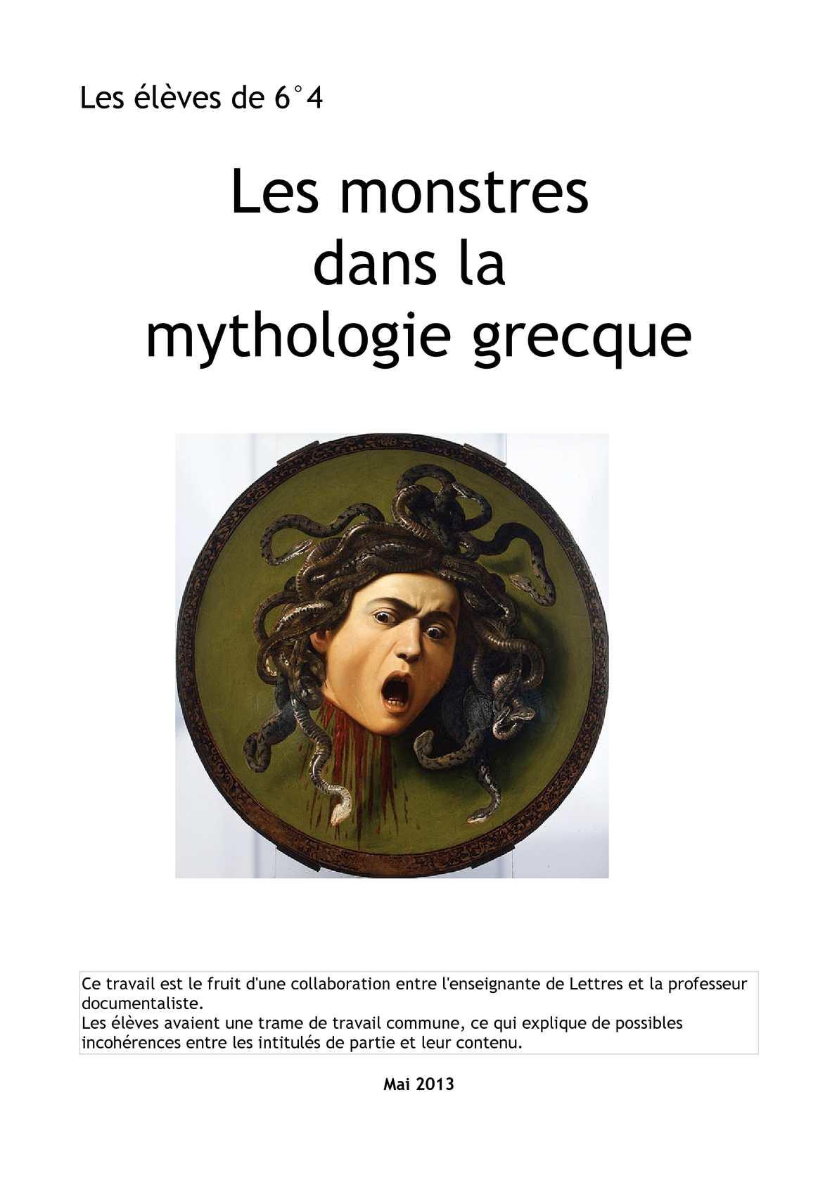 Legende Grecque En 8 Lettres : legende, grecque, lettres, Calaméo, Monstres, Mythologie, Grecque