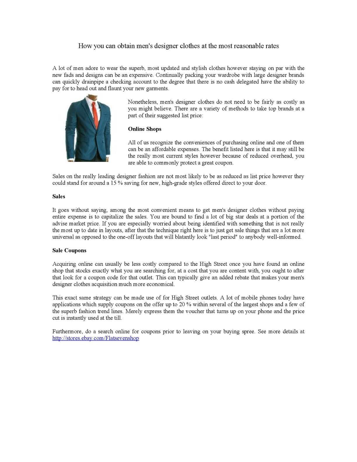 Cheap Mens Designer Clothing Websites