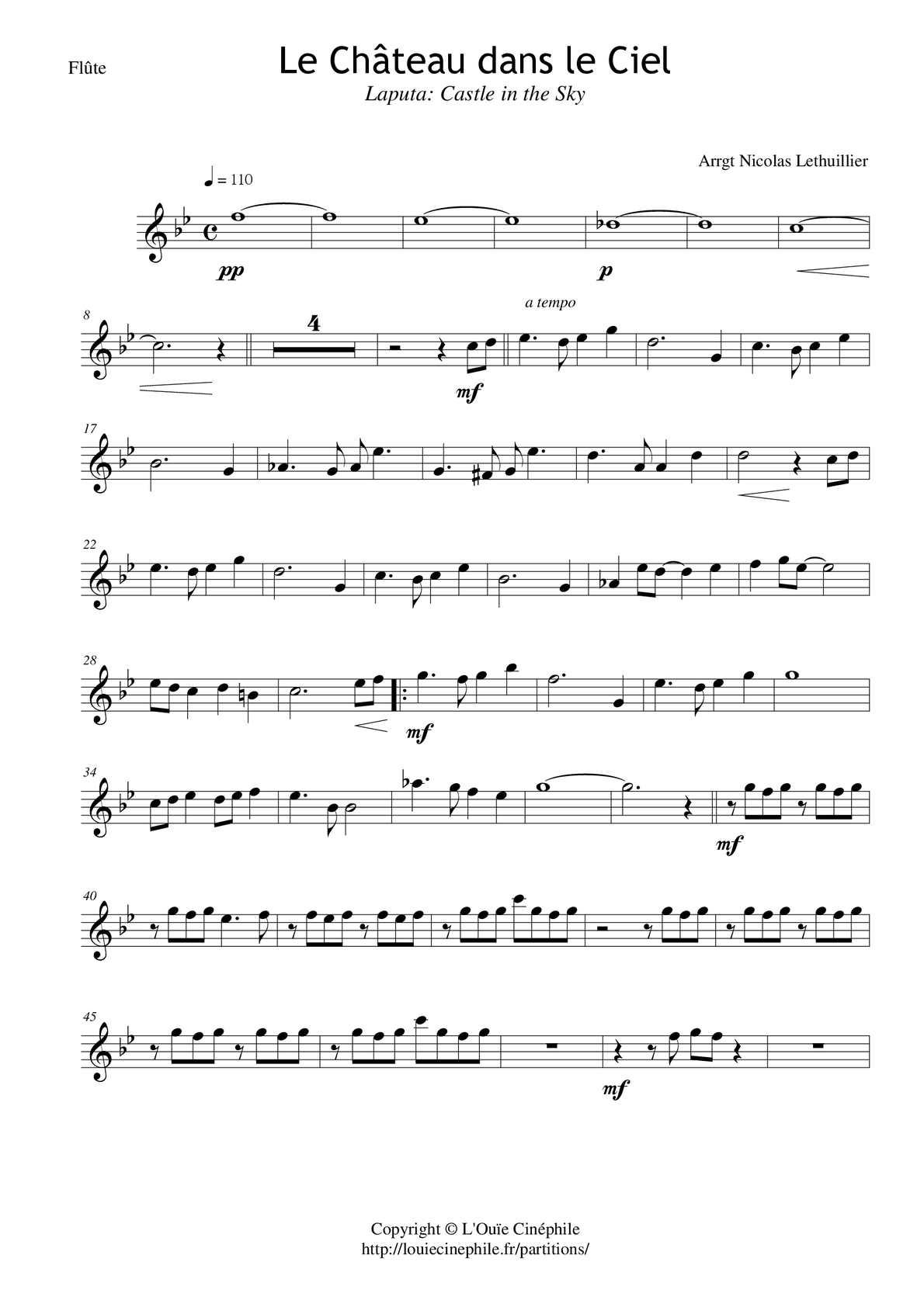 Musique Chateau Dans Le Ciel : musique, chateau, Calaméo, Château, Flûte