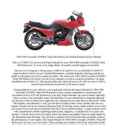1984 1990 kawasaki gpz900r ninja 900 motorcycle workshop repair service manual [ 1190 x 1684 Pixel ]