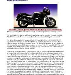 calam o 1984 kawasaki gpz900r ninja 900 motorcycle workshop repair service manual in german [ 1190 x 1684 Pixel ]