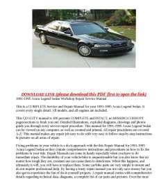 acura legend repair manual ebook hitch currently at thediyhelpers find great deals on ebay 2005 rl using an inexpensive way keep working properly  [ 1190 x 1684 Pixel ]