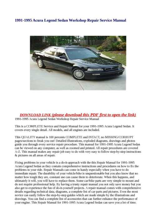 small resolution of acura legend repair manual ebook hitch currently at thediyhelpers find great deals on ebay 2005 rl using an inexpensive way keep working properly