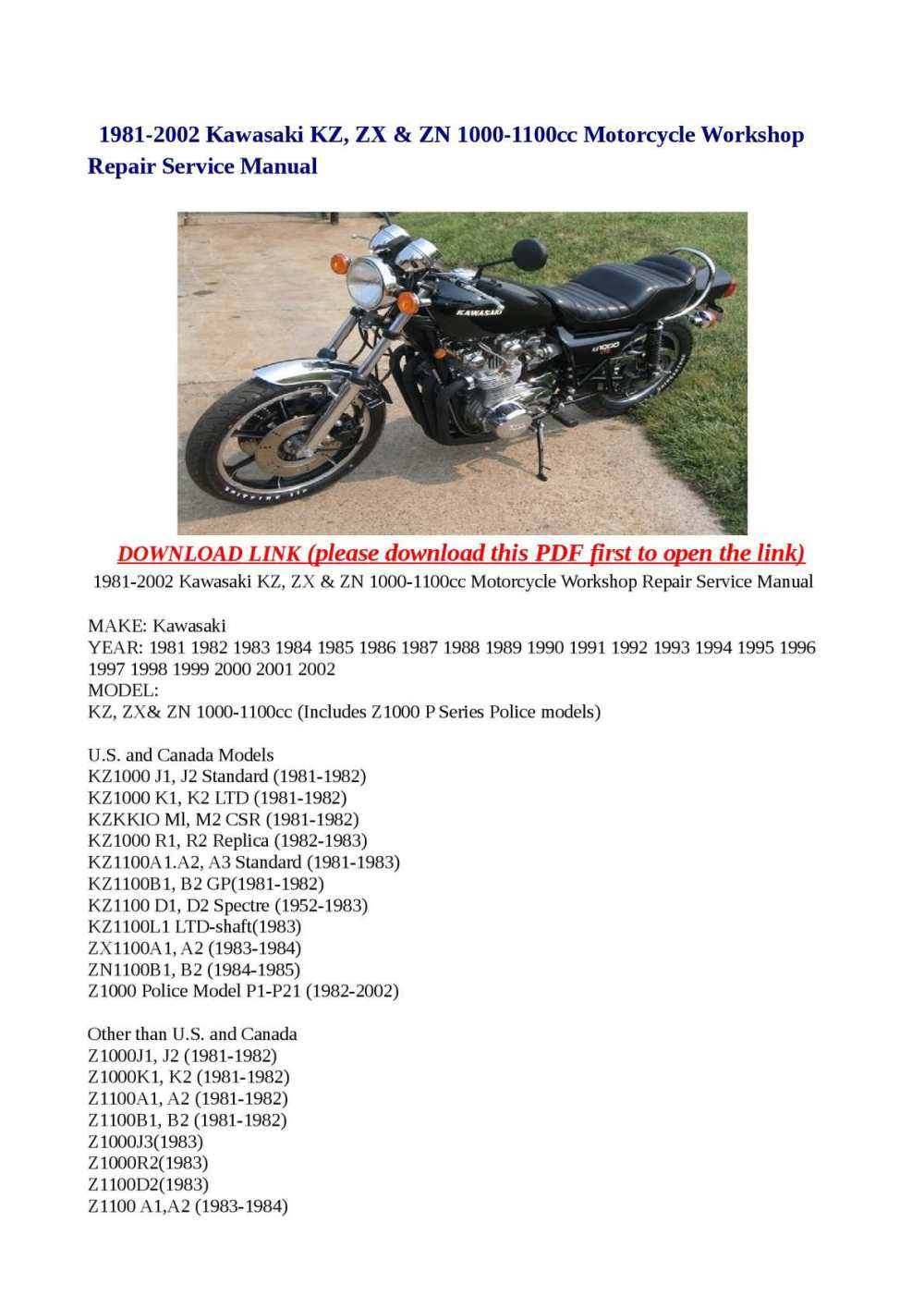 medium resolution of kawasaki kz1100 wiring diagram shaft enthusiast wiring diagrams u2022 1981 kz1100 wiring diagram