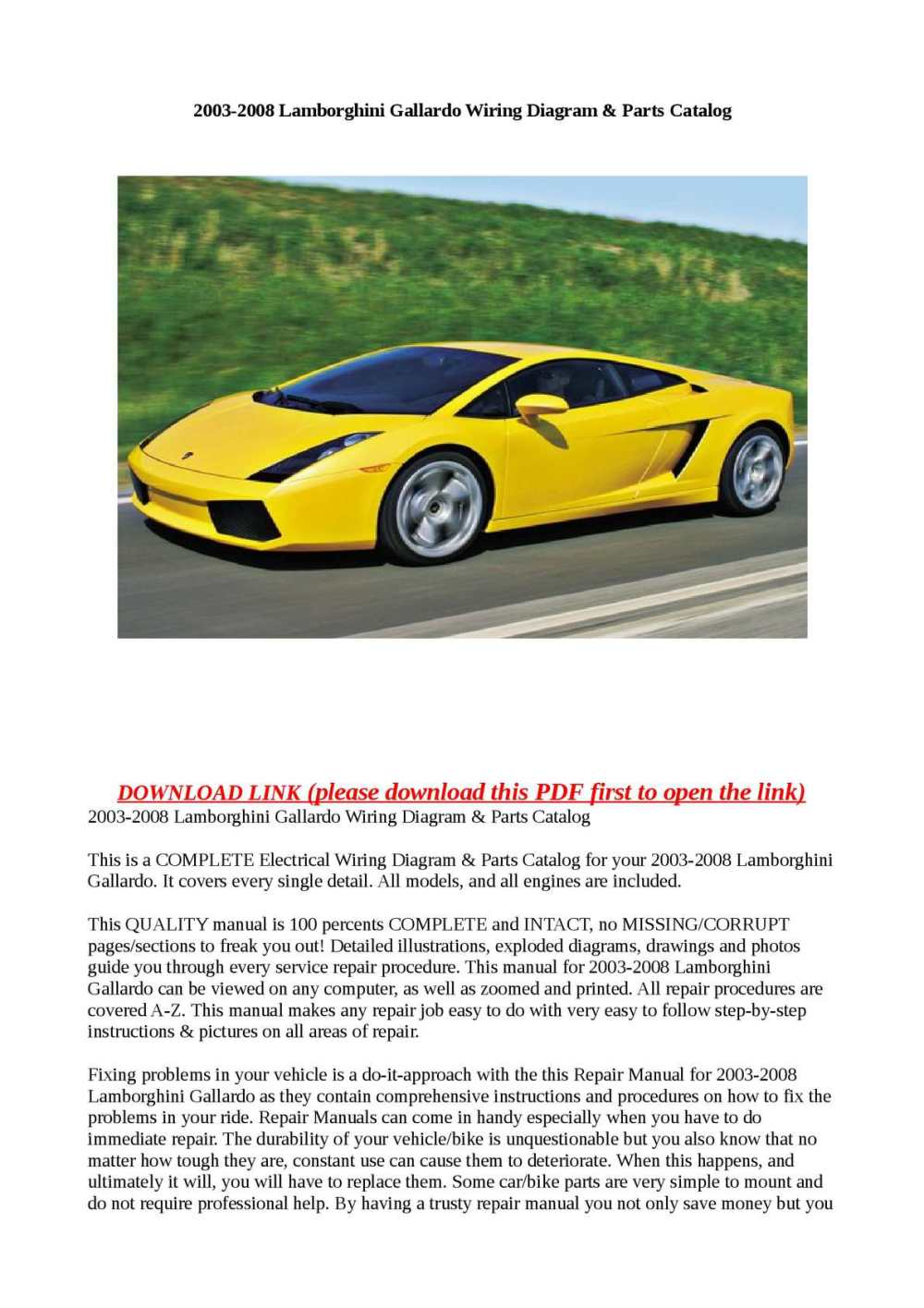 medium resolution of calam o 2003 2008 lamborghini gallardo wiring diagram parts catalog lamborghini murcielago wiring diagram lamborghini wiring diagram