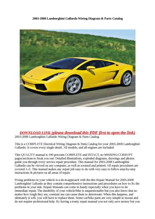 small resolution of calam o 2003 2008 lamborghini gallardo wiring diagram parts catalog lamborghini murcielago wiring diagram lamborghini wiring diagram