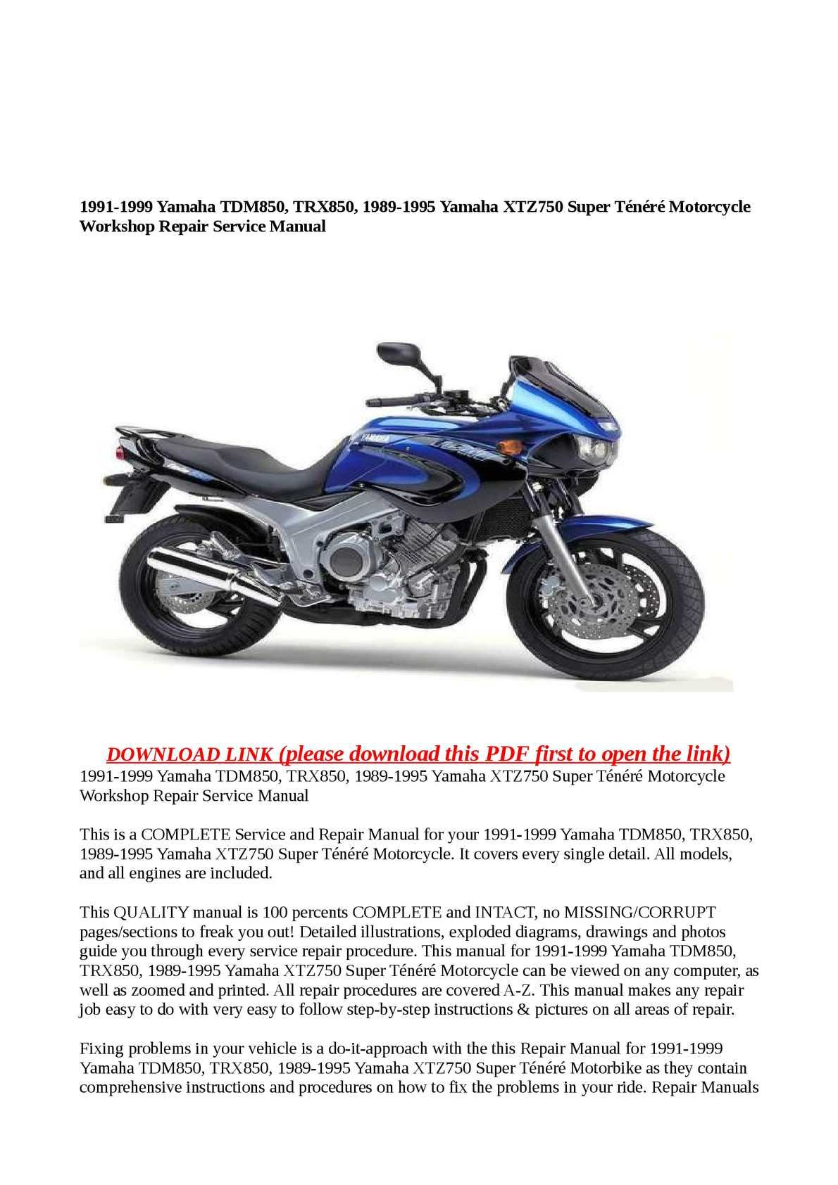 ... Array - yamaha motorcycle service manuals pdf motorview co rh motorview  co
