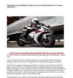 2004 2005 honda cbr1000rr fireblade motorcycle workshop repair service manual 418mb pdf  [ 1190 x 1684 Pixel ]