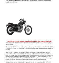 calam o 1978 2003 honda twinstar rebel 250 nighthawk 250 motorcycle workshop repair service manual [ 1190 x 1684 Pixel ]