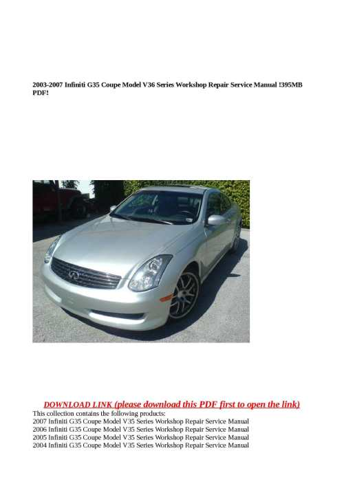 small resolution of calam o 2003 2007 infiniti g35 coupe model v36 series workshop repair service manual 395mb pdf