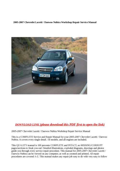 small resolution of calam o 2005 2007 chevrolet lacetti daewoo nubira workshop repair service manual pdf