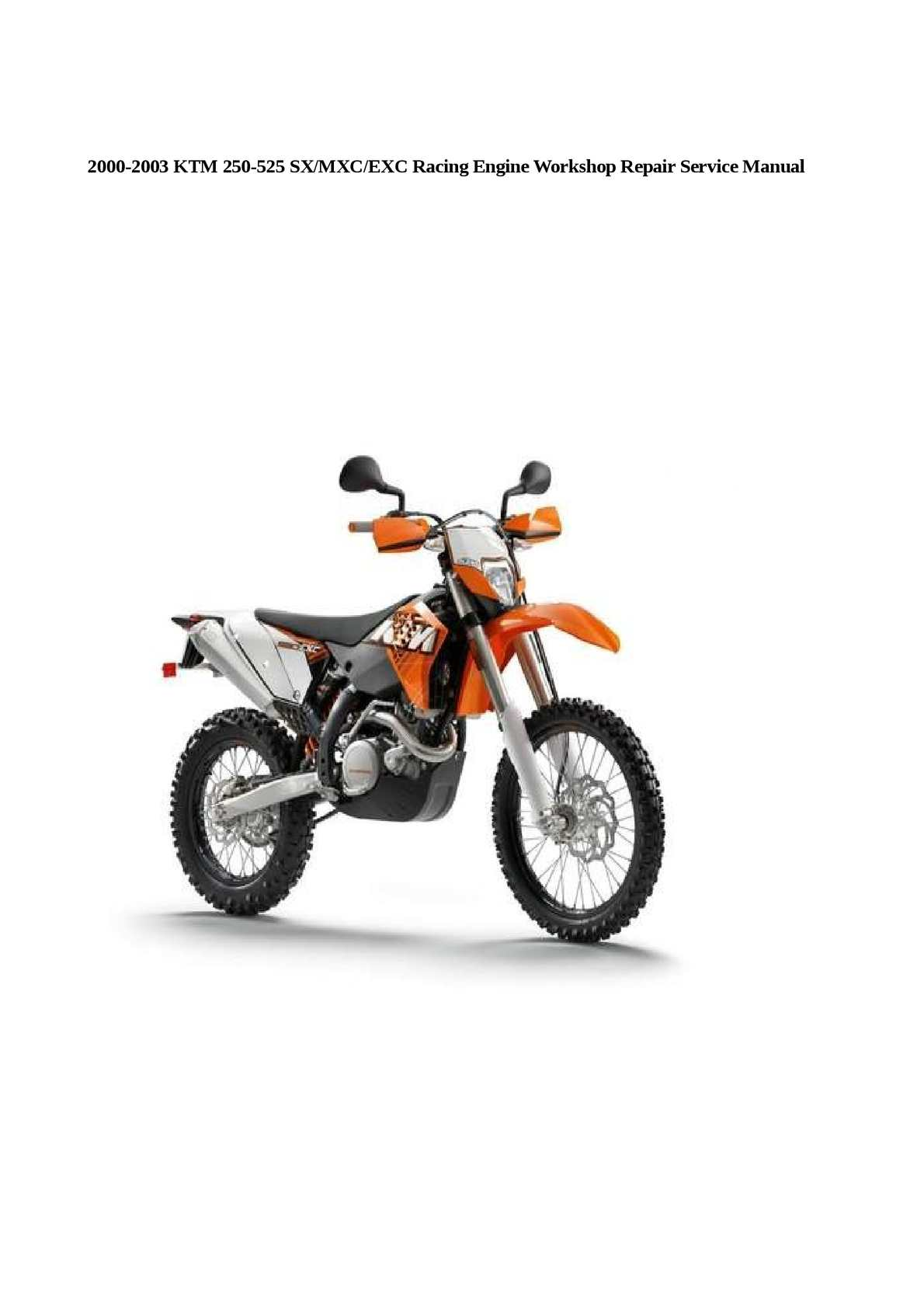 Ktm 525 Workshop Manual