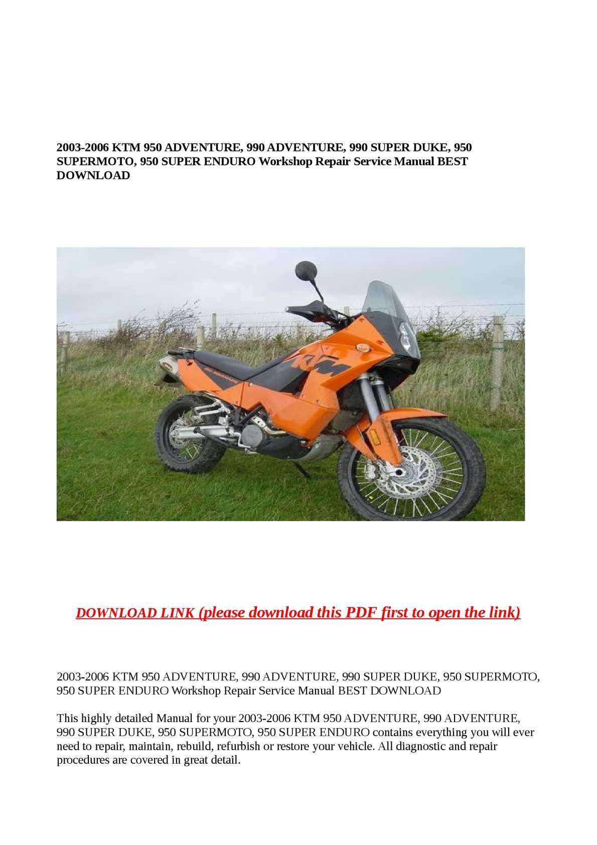 hight resolution of calam o 2003 2006 ktm 950 adventure 990 adventure 990 super duke