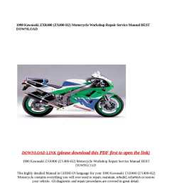 array calam o 1990 kawasaki zxr400 zx400 h2 motorcycle workshop repair rh  [ 1190 x 1684 Pixel ]