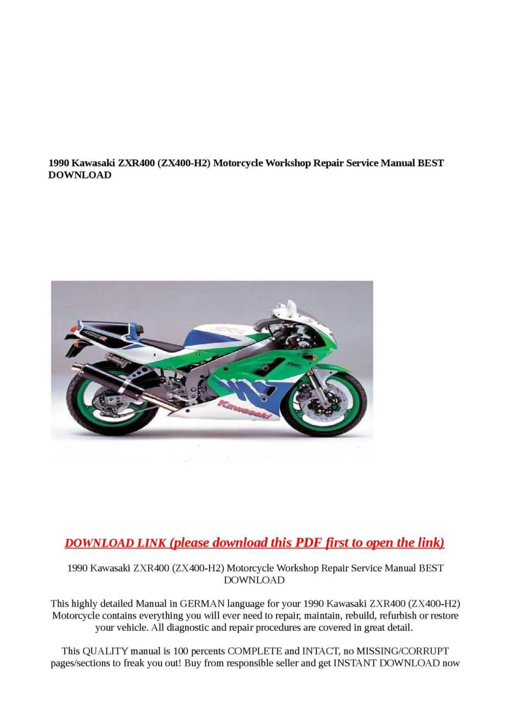 medium resolution of  array calam o 1990 kawasaki zxr400 zx400 h2 motorcycle workshop repair rh