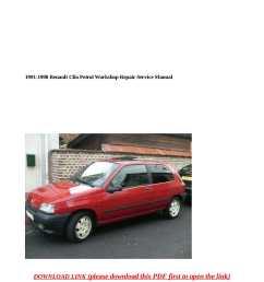 1991 1998 renault clio petrol workshop repair service manual [ 1190 x 1684 Pixel ]