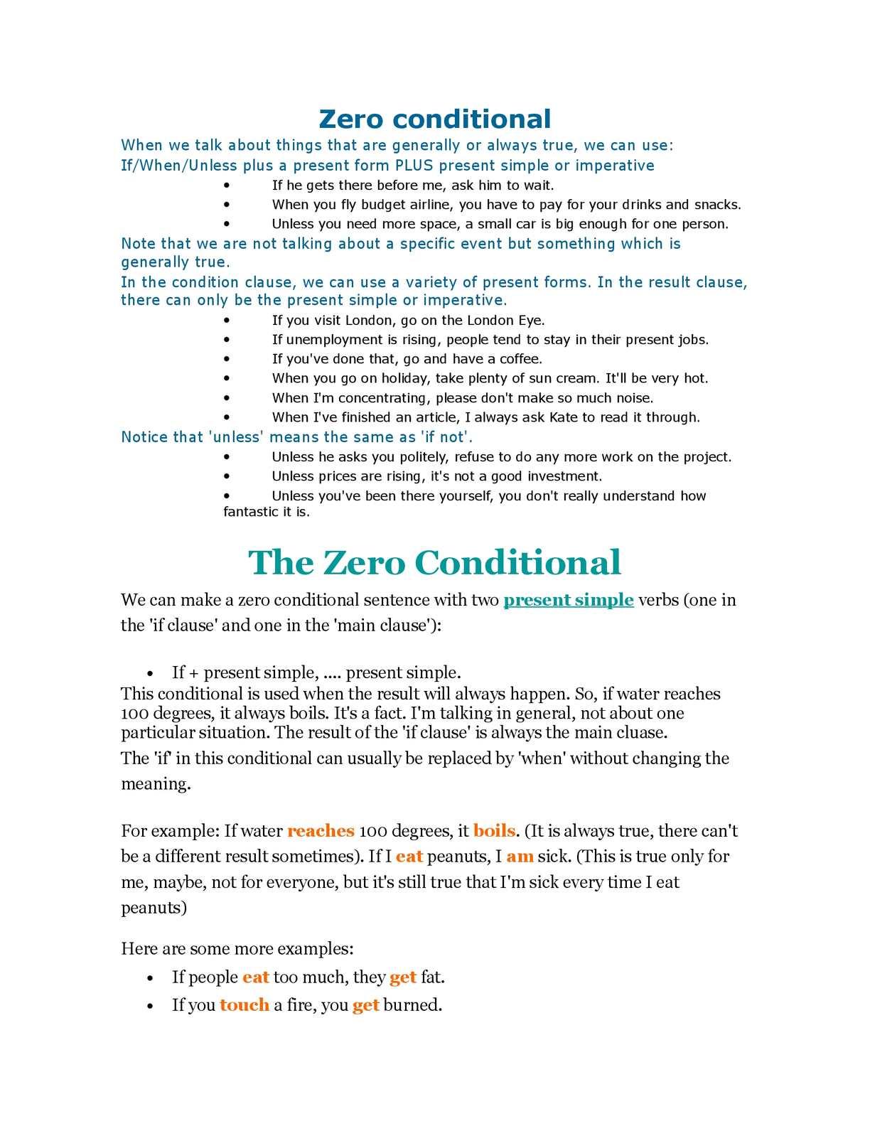 Zero Conditional