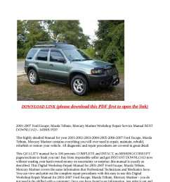 2001 2007 ford escape mazda tribute mercury mariner workshop rep [ 1190 x 1684 Pixel ]