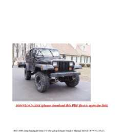calam o 1987 1995 jeep wrangler jeep yj workshop repair service manual best download 115mb pdf  [ 1190 x 1684 Pixel ]