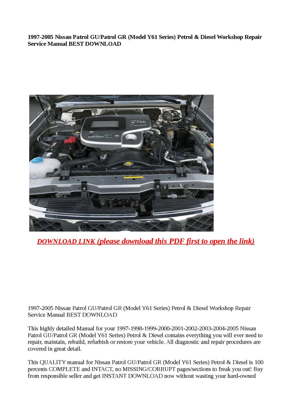 hight resolution of  wiring diagram for 2008 nissan patrol page 1
