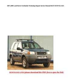 calam o 1997 2000 land rover freelander workshop repair service manual best download [ 1190 x 1684 Pixel ]