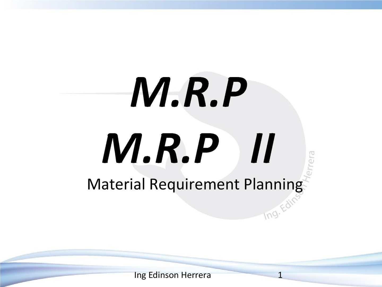 hight resolution of mrp diagrama
