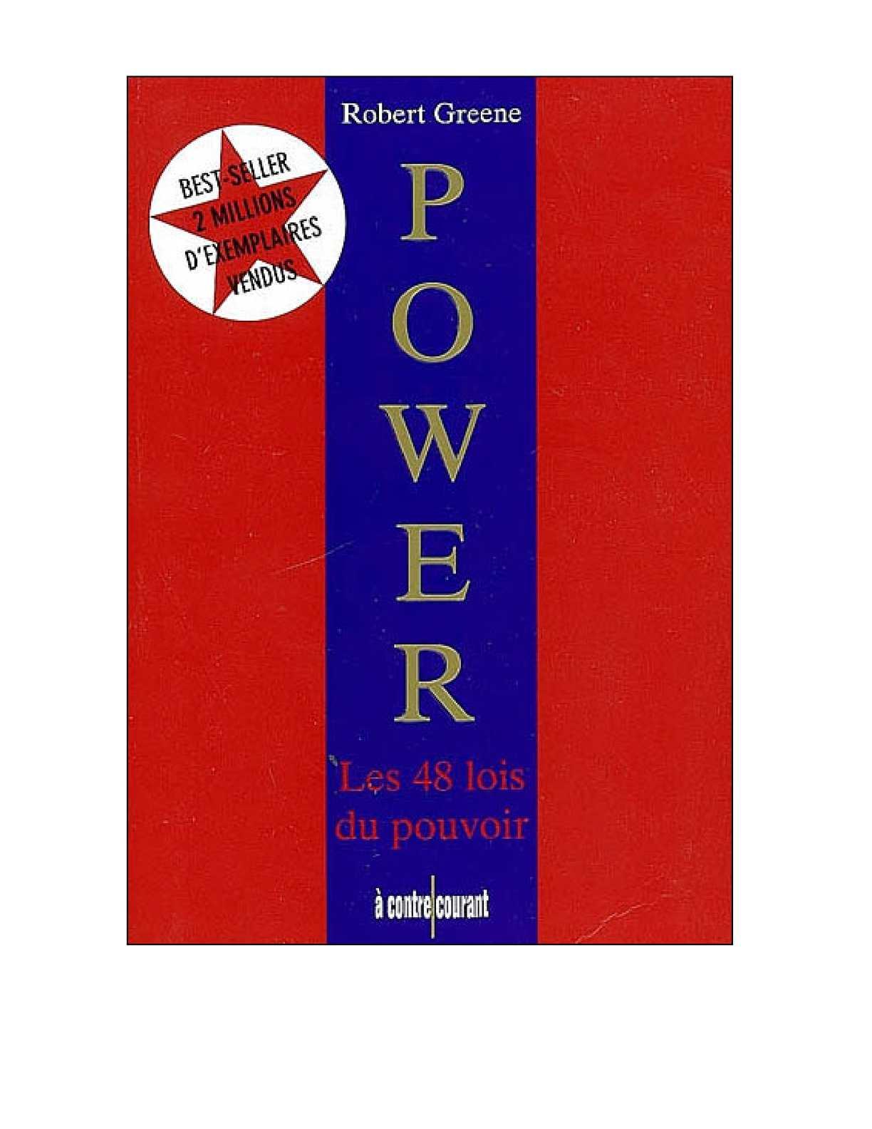 Télécharger Power les 48 lois du pouvoir en PDF | WLEBOOKS