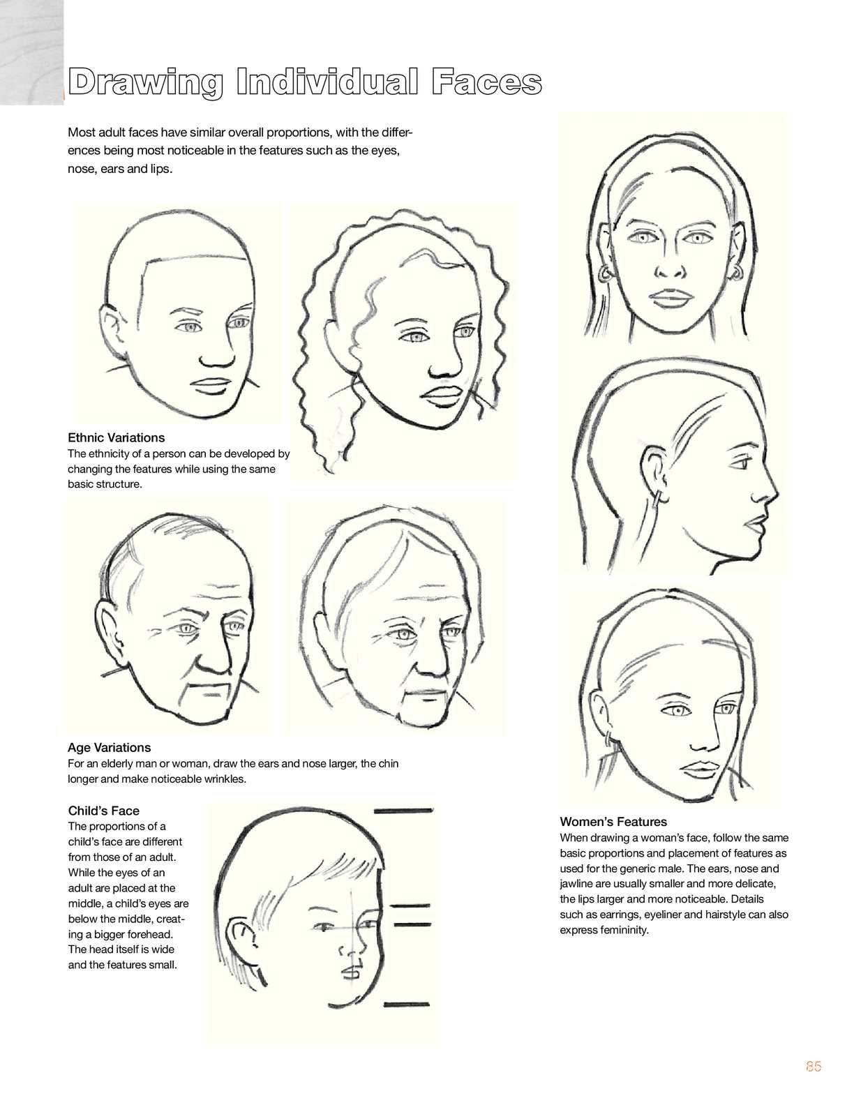 Howtodrawaportrait28 Noses Eyes Ears Features Proportions