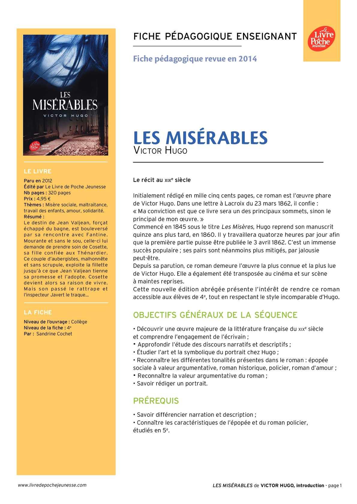 Les Misérables Résumé Court Par Chapitre : misérables, résumé, court, chapitre, Calaméo, Misérables, -texte, Abrégé, Ressource, Pédagogique