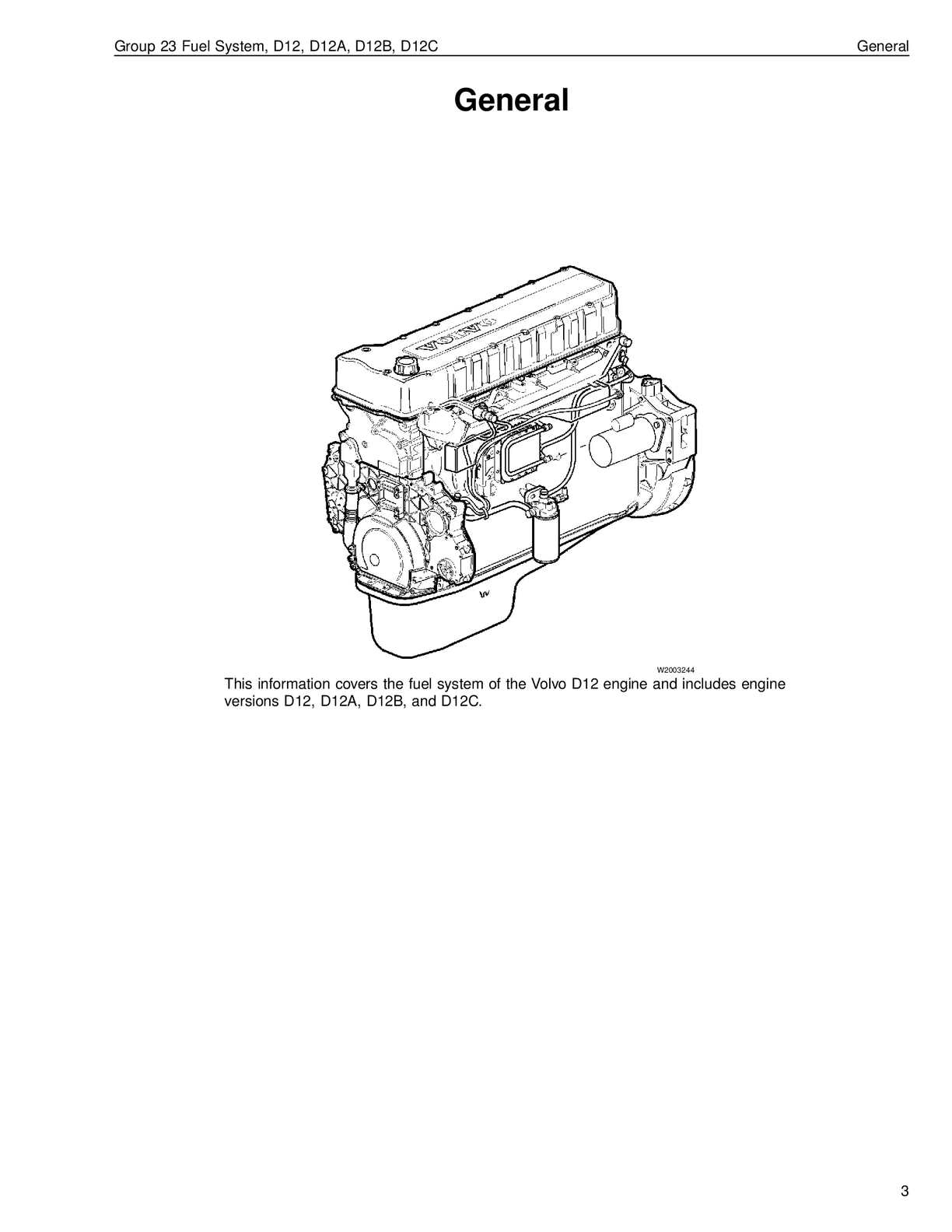 Volvo Fuel System D12 D12a D12b D12c
