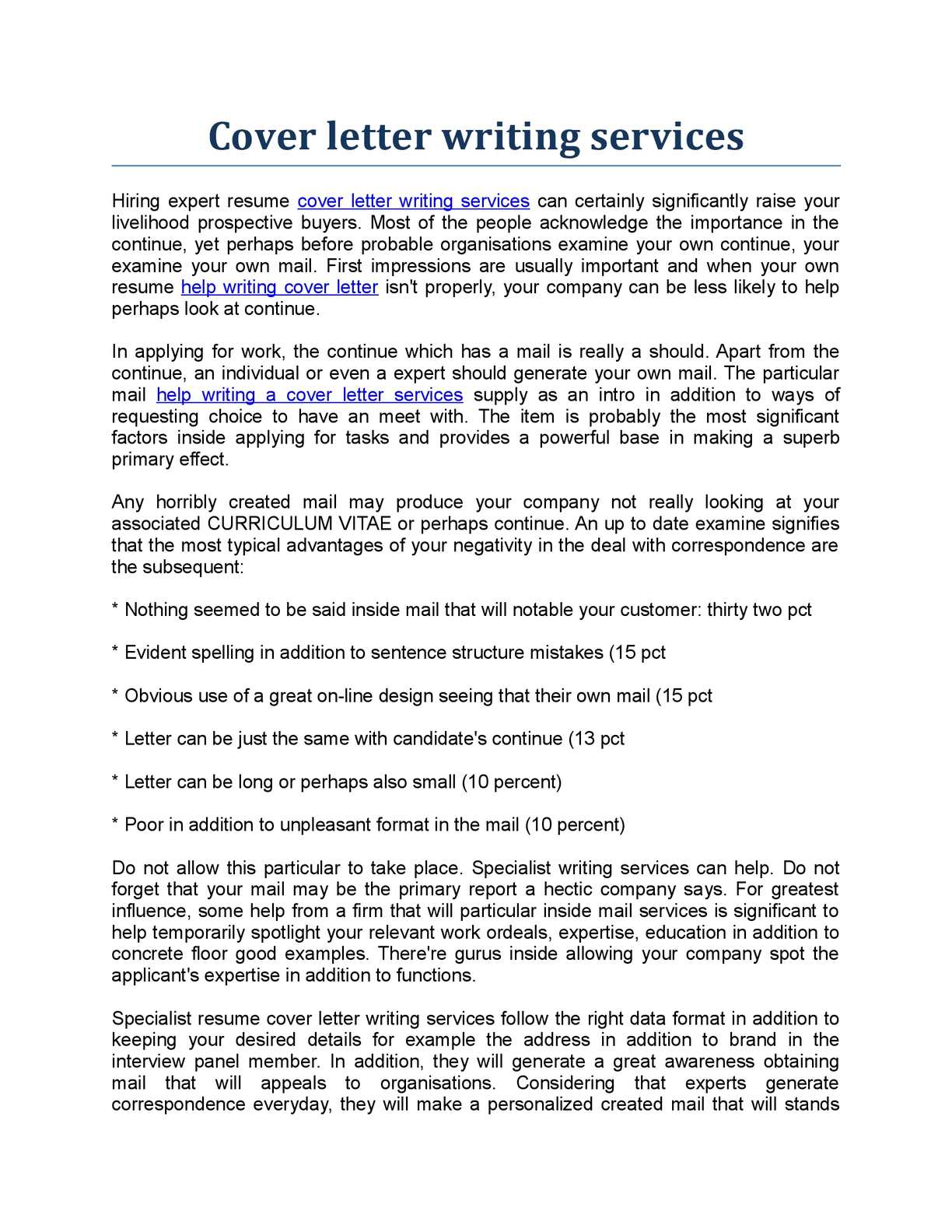 Writing A Cover Letter To A Company Calaméo Cover Letter Writing Services