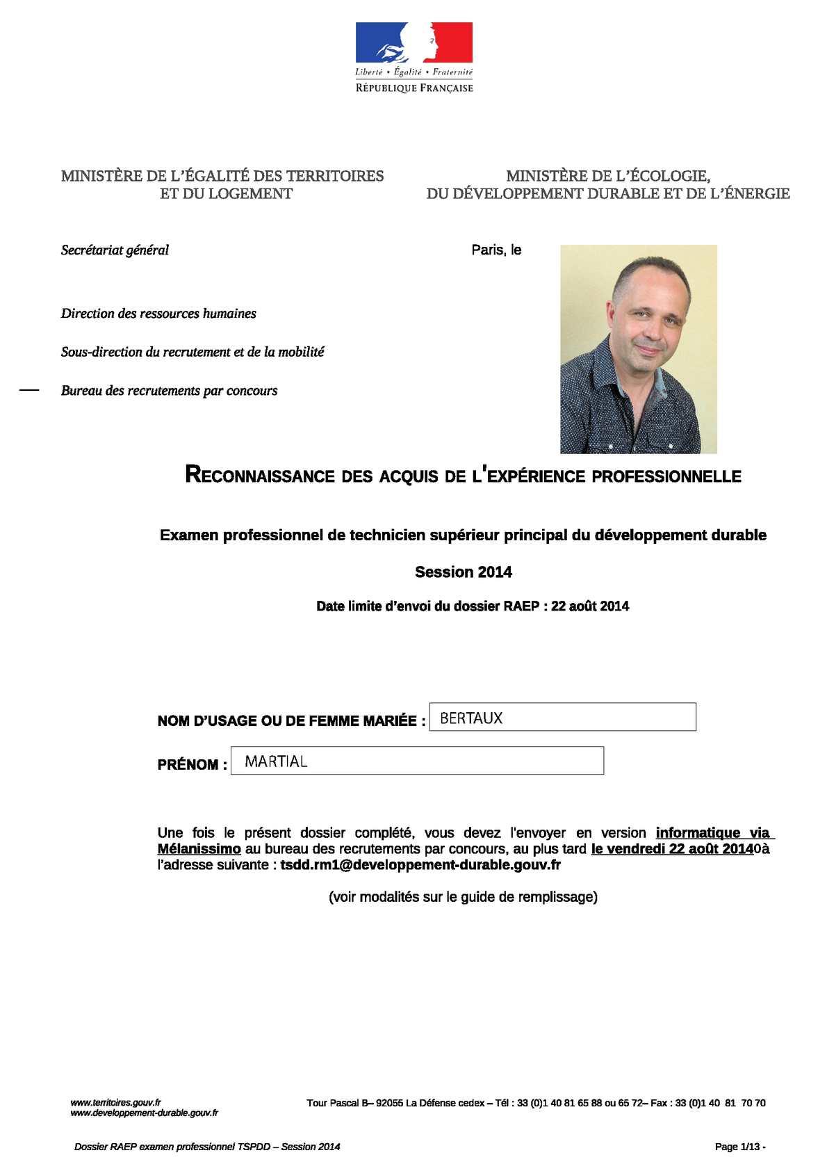 Calamo  RAEP Martial Bertaux 2014