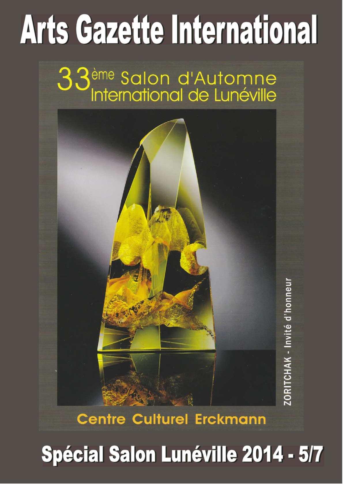 Calamo  Arts Gazette International  NSpcial 33e Salon dAutomne International de Lunville