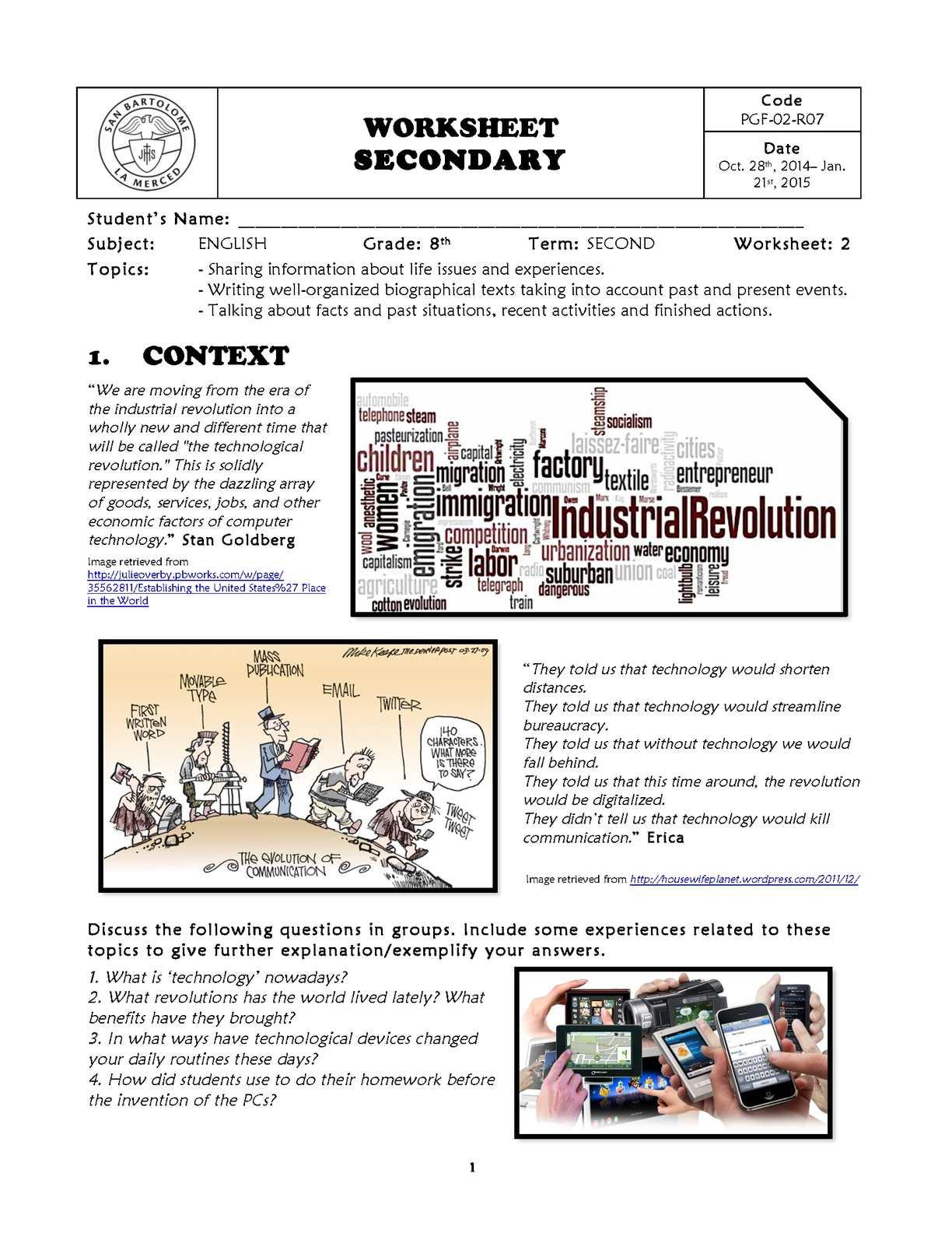 hight resolution of Calaméo - Worksheet No. 2 - 8th Grade