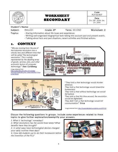 small resolution of Calaméo - Worksheet No. 2 - 8th Grade