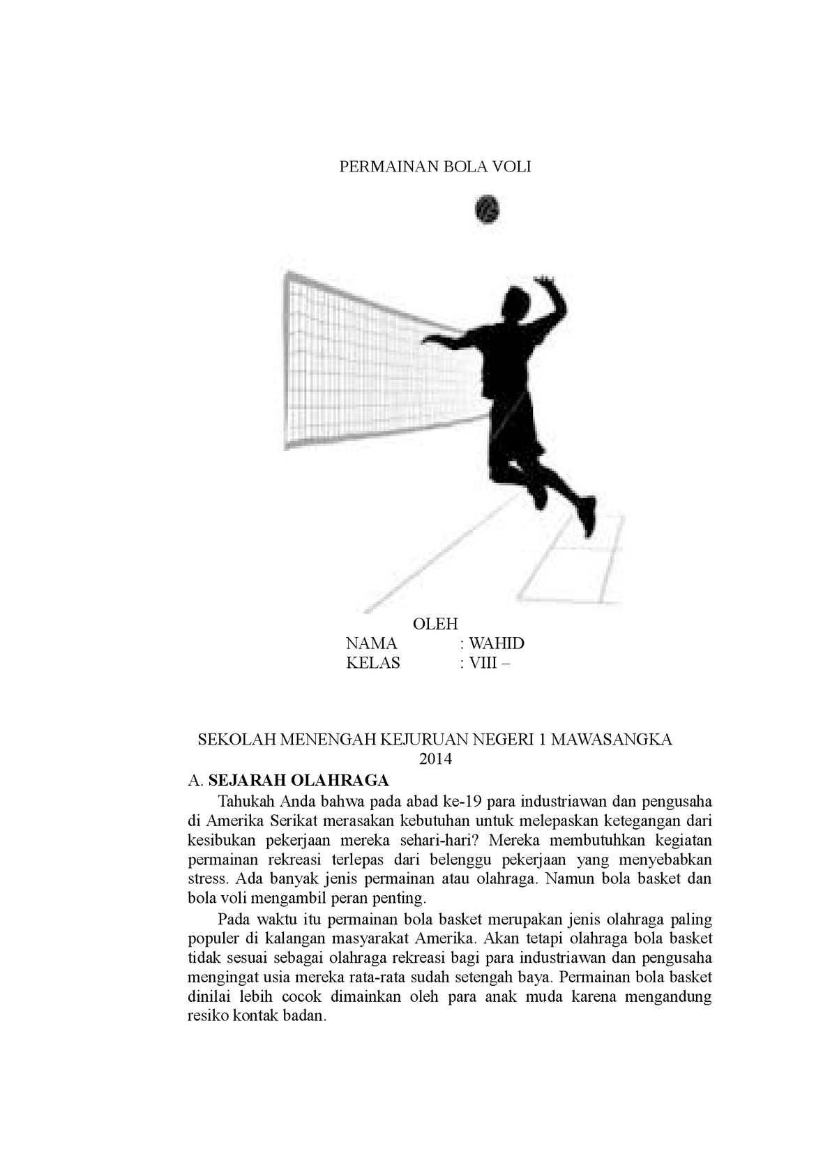 Sejarah Bola Volley : sejarah, volley, Calaméo, Sejarah