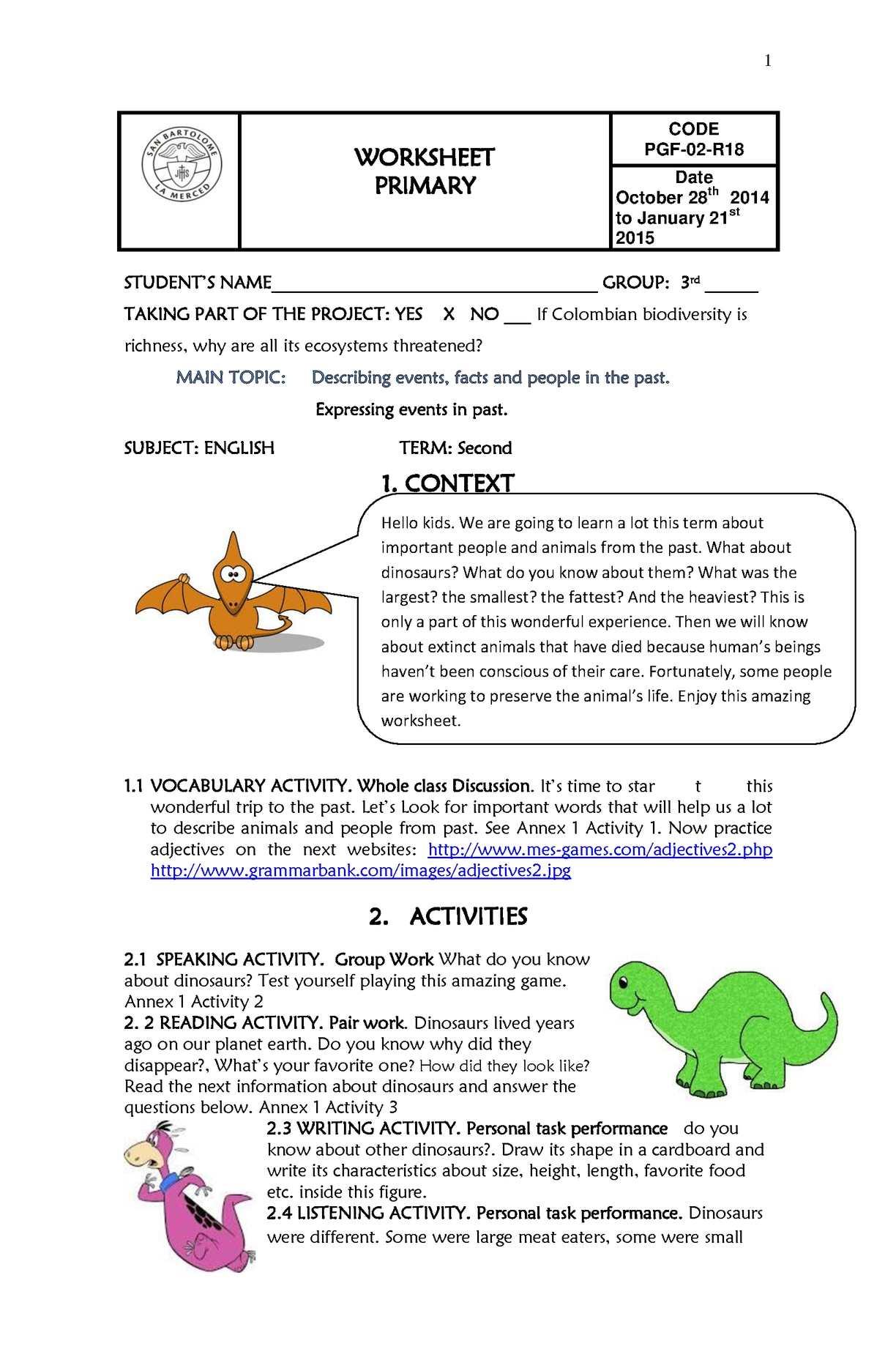 hight resolution of Calaméo - Worksheet Third Grade Second Term