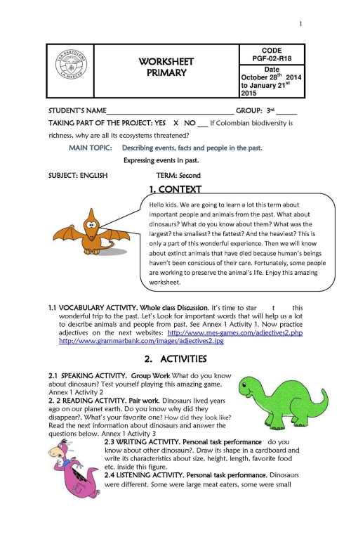small resolution of Calaméo - Worksheet Third Grade Second Term