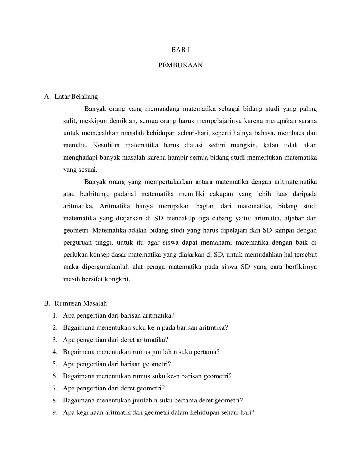 Pengertian Barisan Aritmatika : pengertian, barisan, aritmatika, Calaméo, Baris, Deret, Kelas