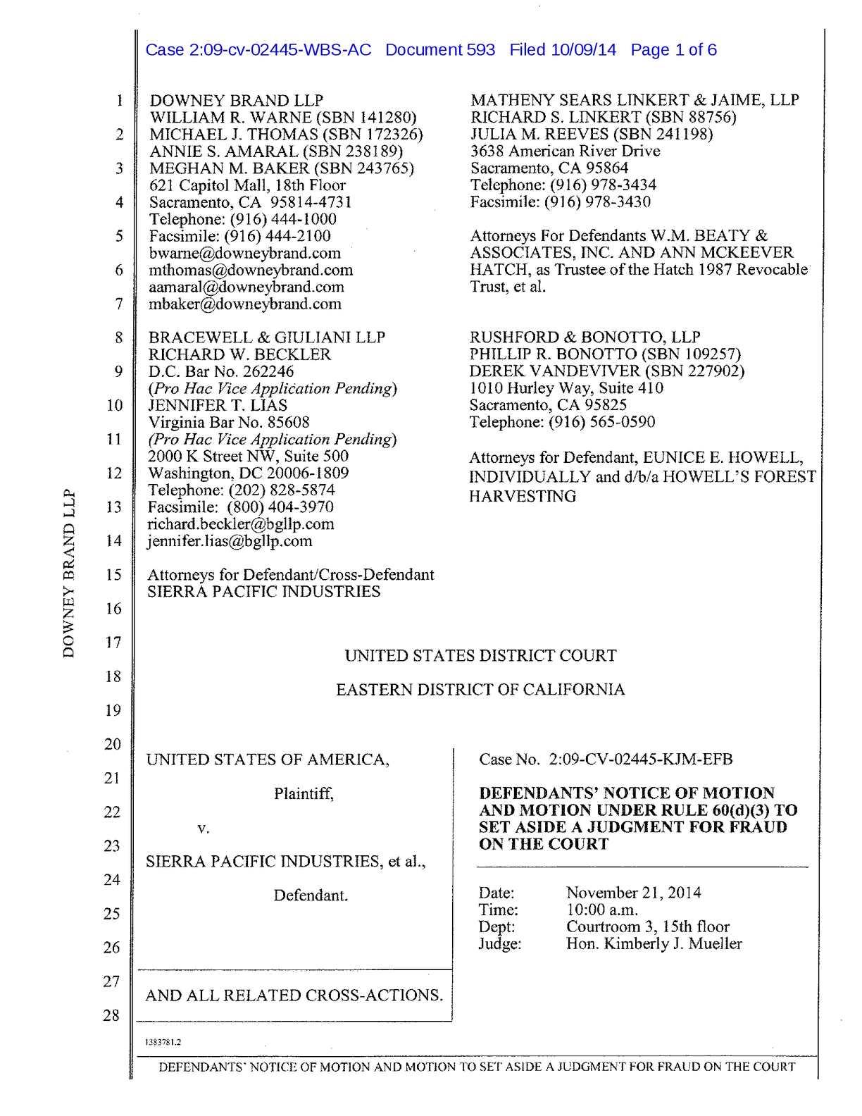 Calamo  Sacramento Federal Court Corruption Catalog
