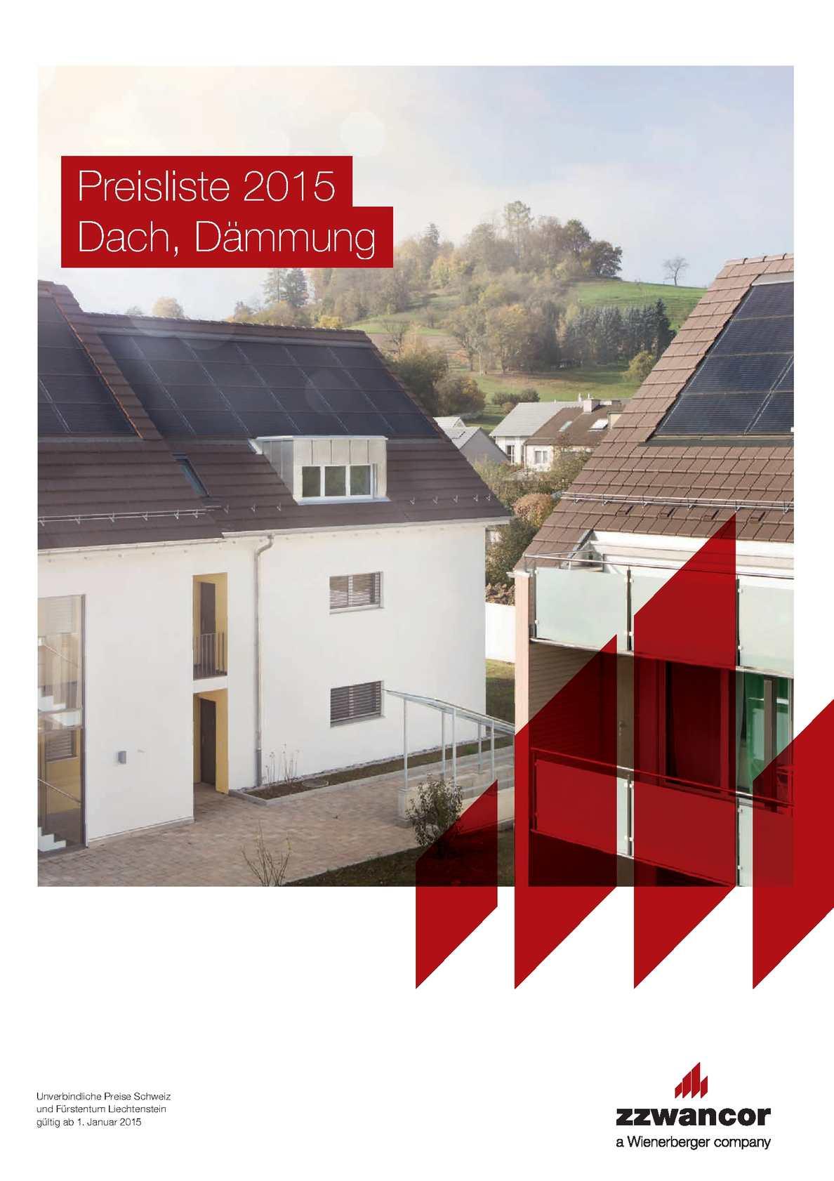 Calaméo - Preisliste Dach, Dämmung 2015