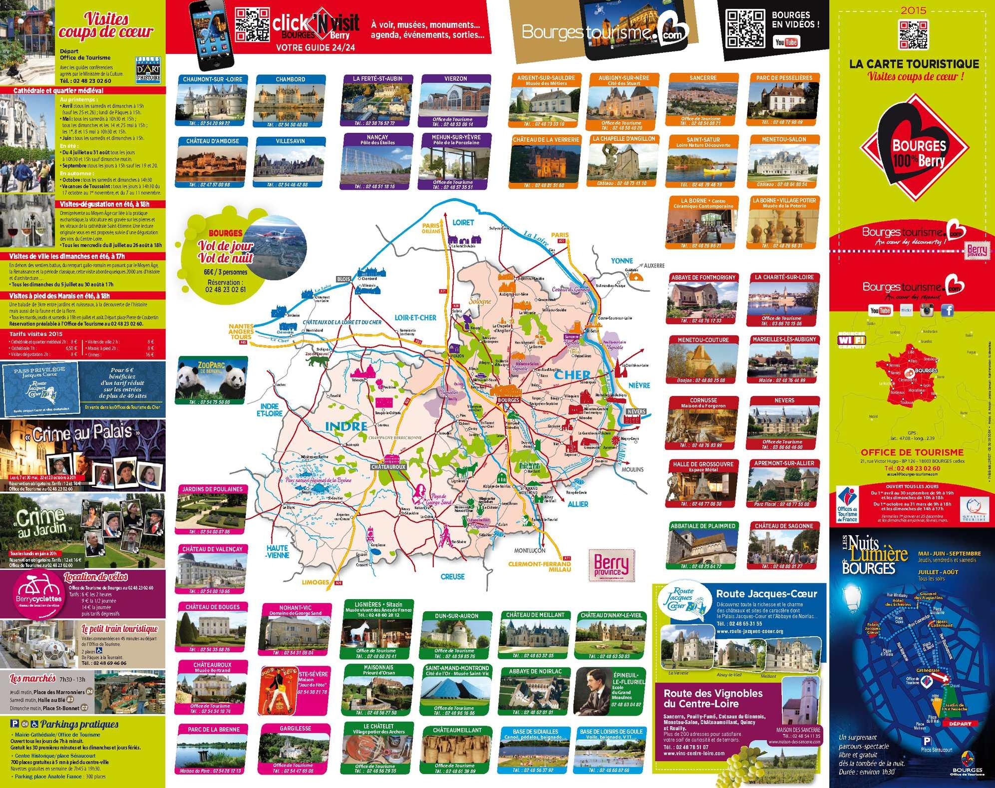 Calamo Carte Touristique Bourges 2015