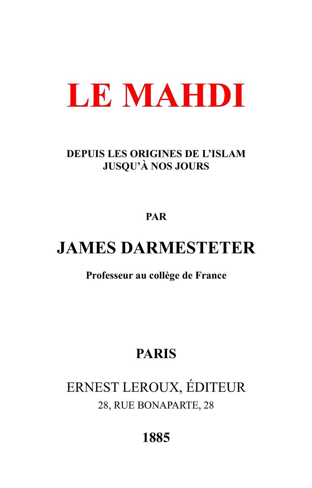 Le Mahdi Est En France : mahdi, france, Calaméo, Mahdi