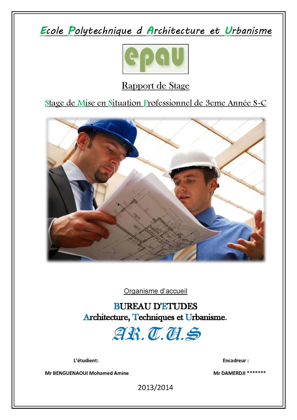 Calamo Raport De Stage Architecture