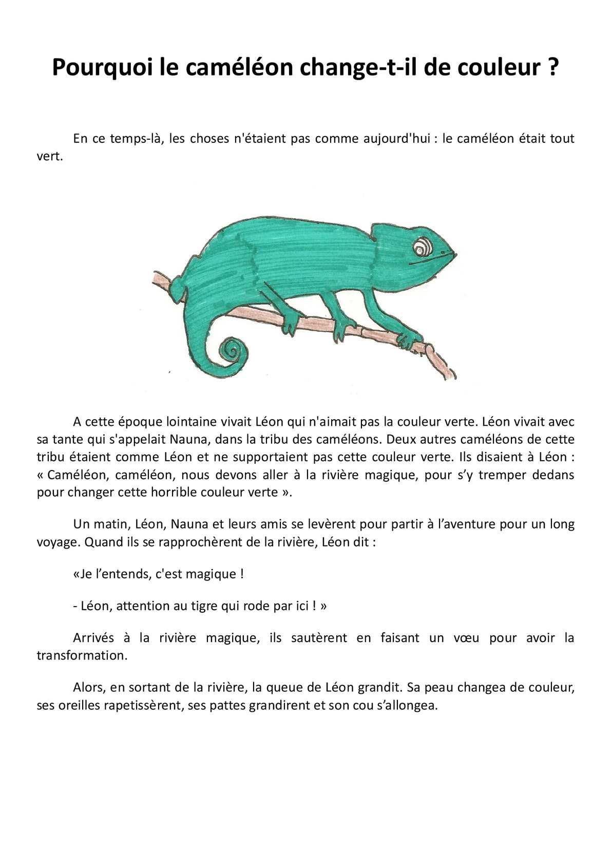 Animal Qui Change De Couleur : animal, change, couleur, Calaméo, Conte, Lauriciane
