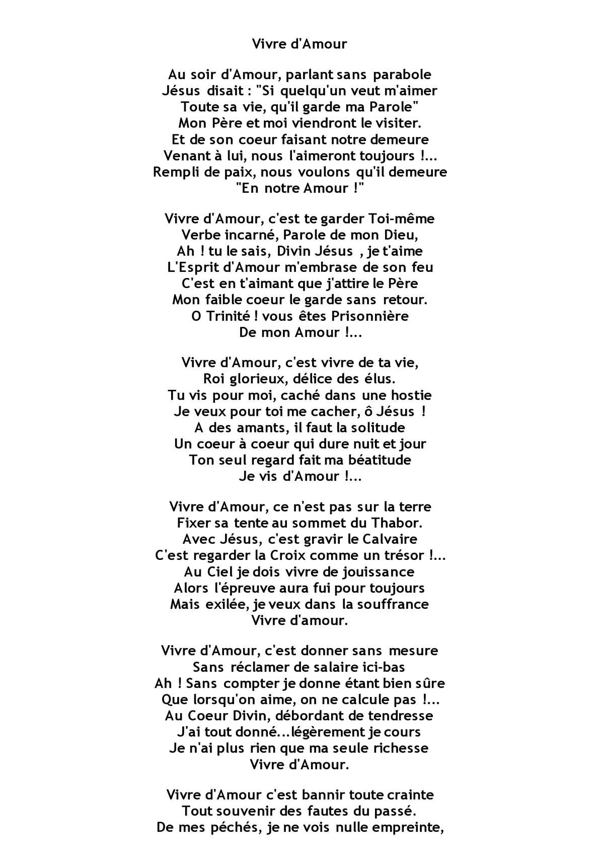 Parole A La Vie A L'amour : parole, l'amour, Calaméo, Vivre, D'amour