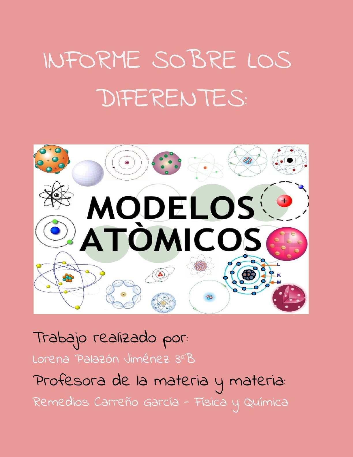 Calaméo Informe De Los Modelos Atómicos