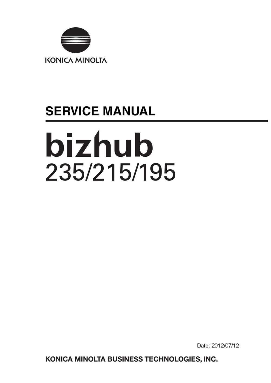 medium resolution of sm bizhub235 215 195 service manual e ver 1 2