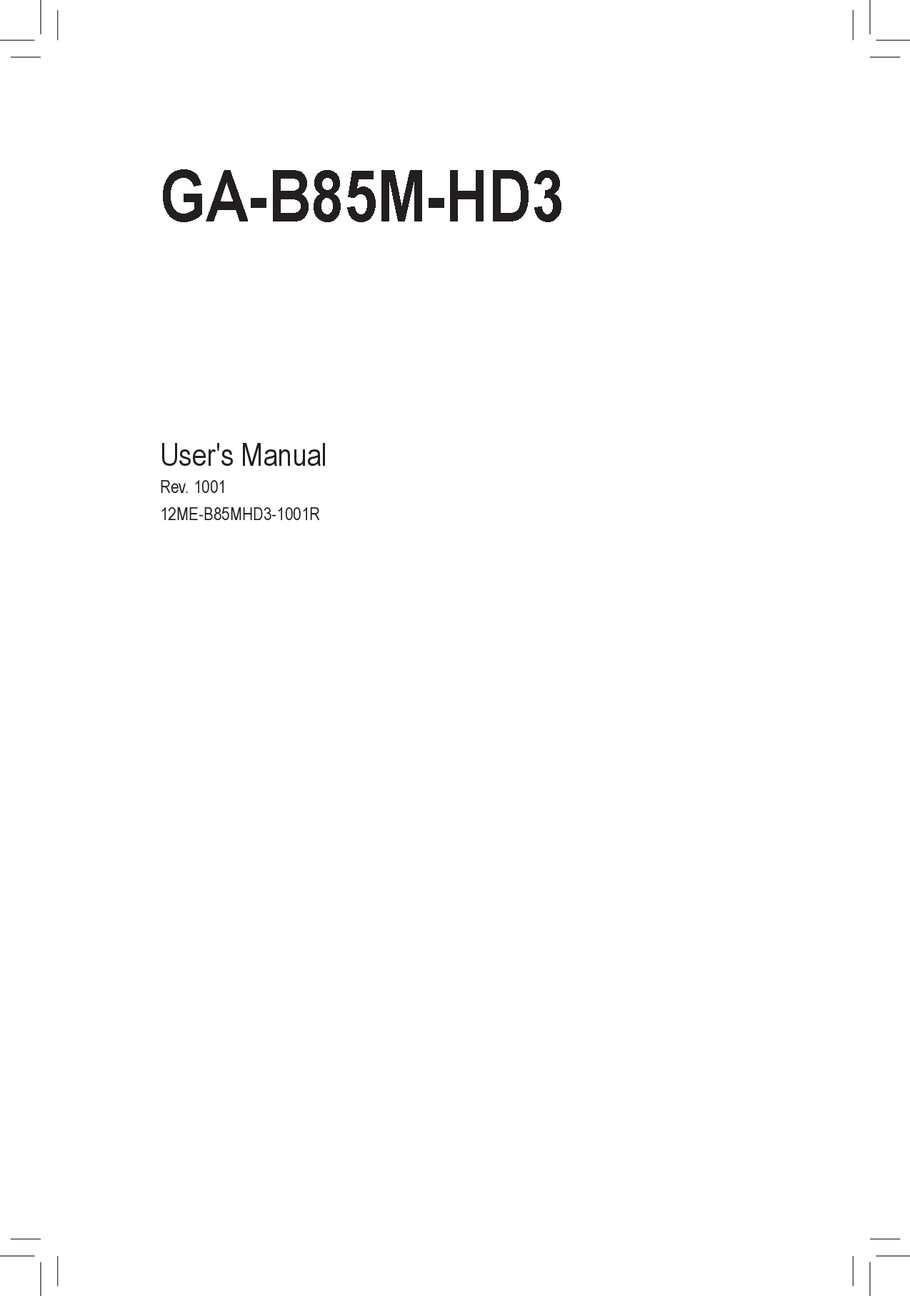 hight resolution of mb manual ga b85m hd3 e