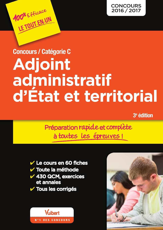 Calaméo - 9782311201321 - Concours Adjoint Administratif D'Etat Et  Territorial